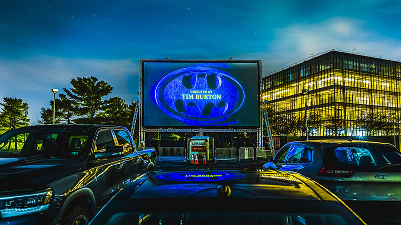 Outerview of BellWorks Drive-in theater