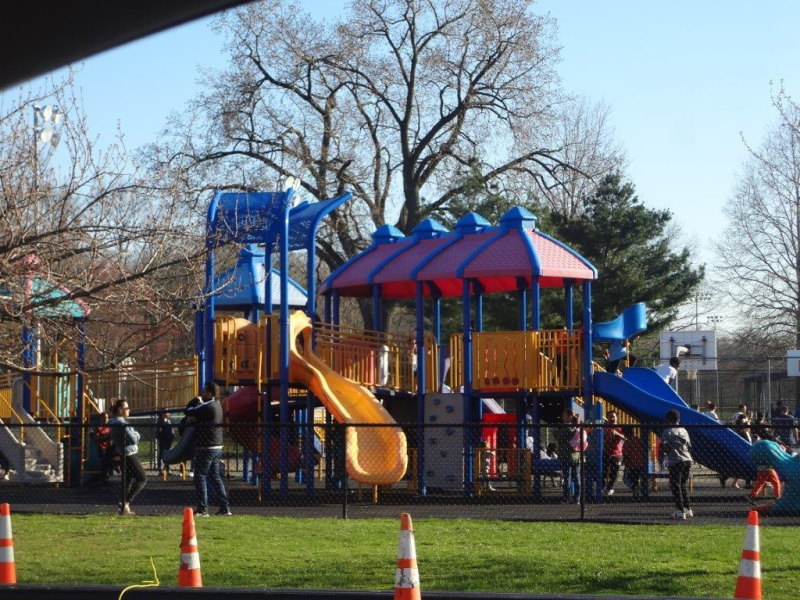 Children's playing area t Votee Park in New Jersey