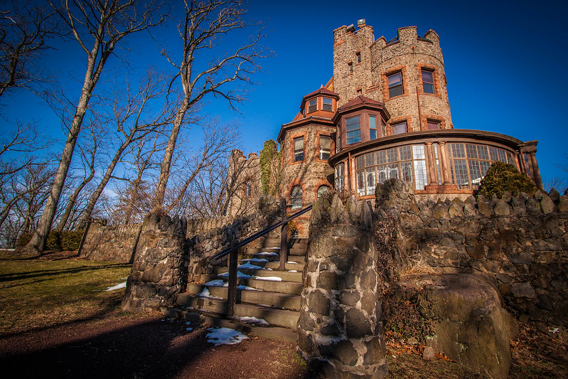 An iconic view of Kip's Castle New Jersey