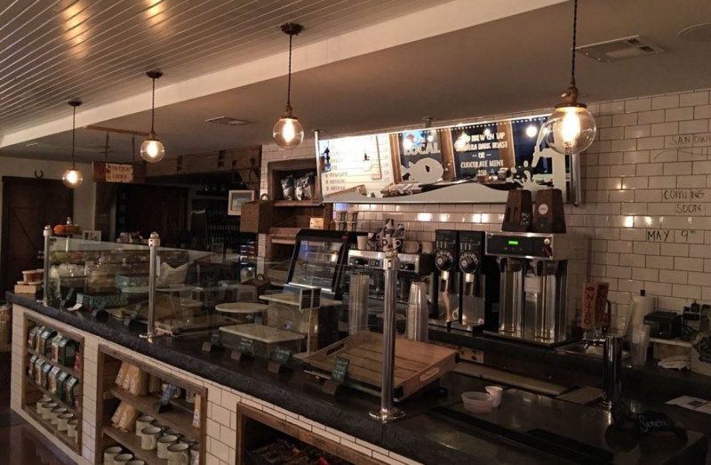 A front look of the inner till of The Local Coffee Shop