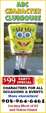 ABC Character clubhouse - Costume characters for kids parties NJ