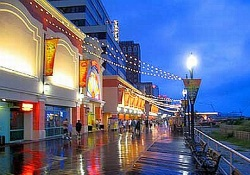 Boardwalk in Atlantic City NJ