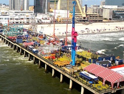 Steel Pier on The Atlantic City NJ Boardwalk