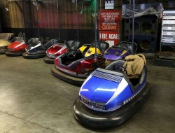 Eldorado Bumper Cars and Arcade Attractions on the Coney Island Boardwalk in NY