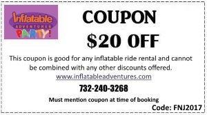Inflatable rentals Monmouth and Ocean County NJ