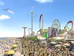 Luna Park Thrill Seeking Attractions on the NY Coney Island Boardwalk
