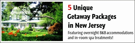 5 B&B and spa masage getaways in New Jersey