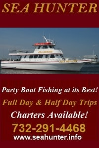 Sea Hunter Fishing Party Boats in Central NJ