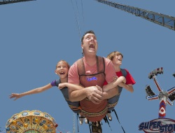 Skycoaster Newest rides on the Seaside NJ Boardwalk