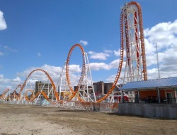 Thunderbolt Best Roller Coasters on the Coney Island Boardwalk in NY