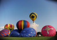 Hot air balloon festival at the Warren County Farmers fair NJ