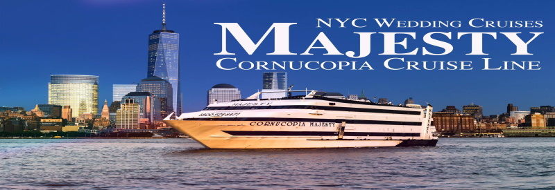 Photo of Cornucopia Cruise Lines boat sailing in calm blue waters in Perth Amboy NJ.