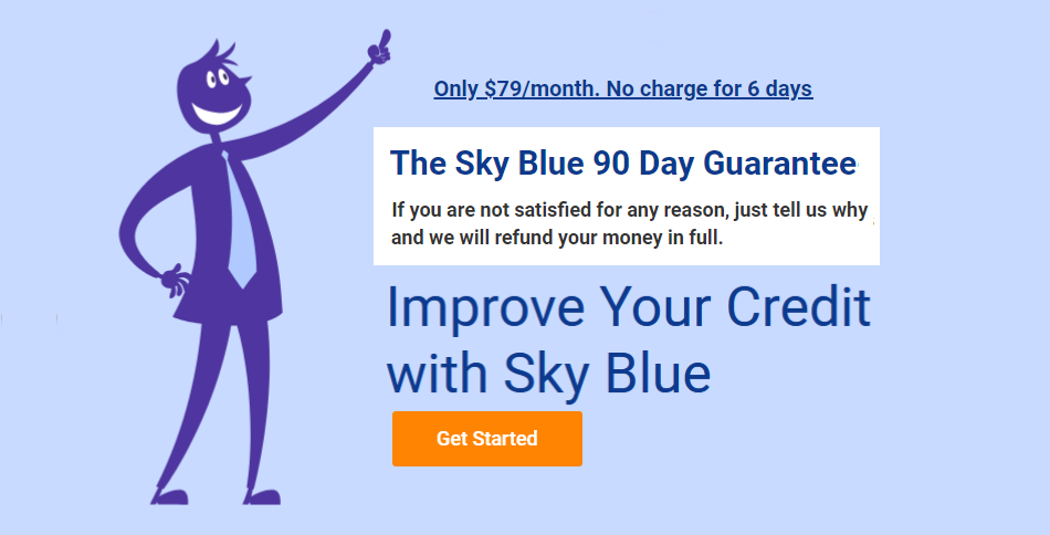 Image of Sky Blue Credit 100% guarantee