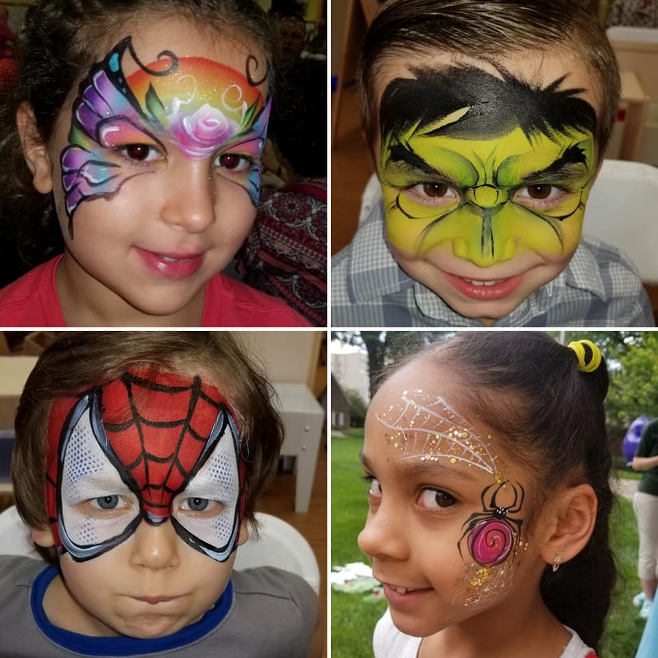 Spanish speaking entertainer Pattysweetcakes Face painting clown in Northern and Central NJ