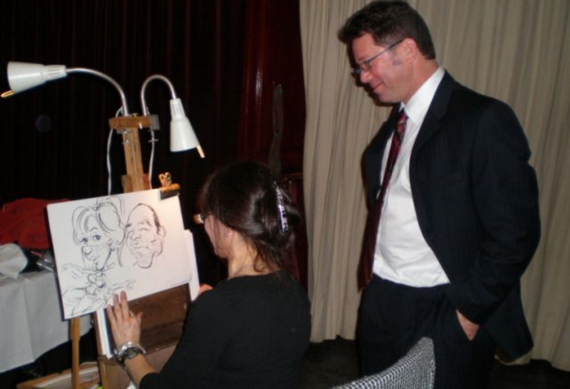 Art Girl Debbie Schafer Southern NJ Caricatures for Corporate Parties