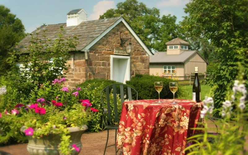 Stay at the Woolverton Inn for a beautiful bed and breakfast on the Delaware River.
