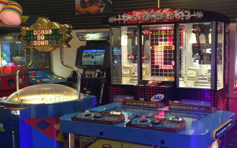 Arcades, rides, and games are available at Southern NJ's Eagleswood Amusement Park.