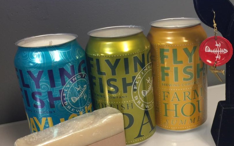 Can or bottle? Get yourself a whole flight when you take a brewery tour at Flying Fish Brewing Co.