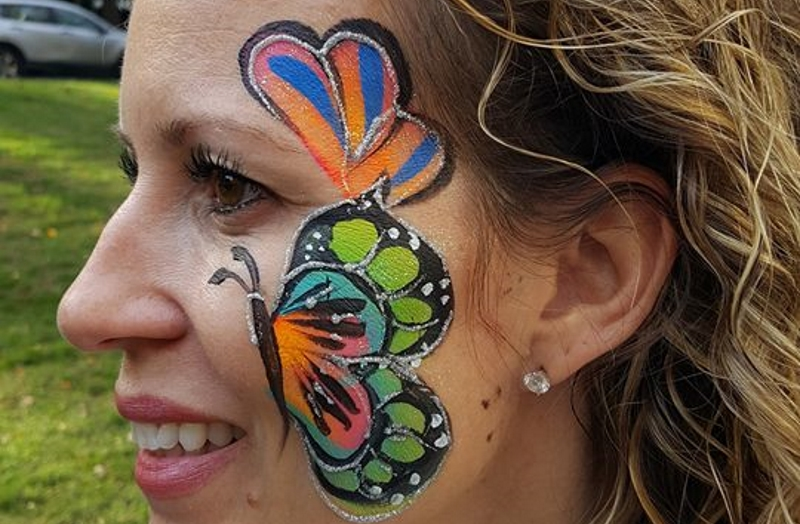 Face Painting by Trudy Glitter Tattoo Artist in Northern nJ