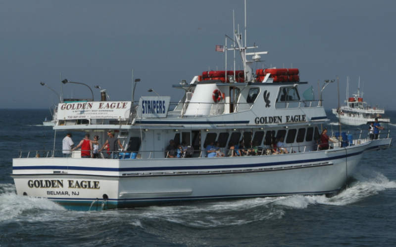 100' Golden Eagle is an excellent charter boat on the Jersey shore.