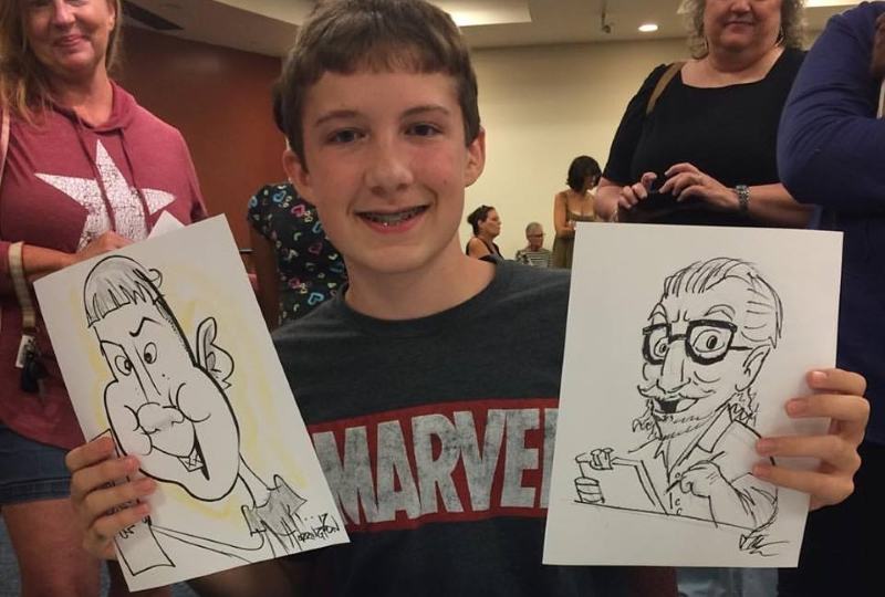 Harringtoons Caricatures for Corporate Parties in NJ Southern NJ