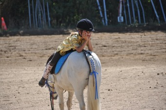 Image of a child on a horse using animal assisted therapy services, one of the available special needs services in NJ
