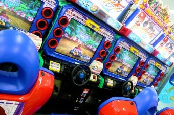 Image of arcade games at a child's birthday party in NJ