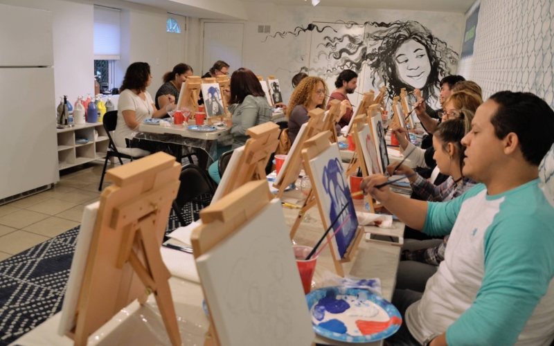 Art Mango BYOB canvas painting classes in North Jersey