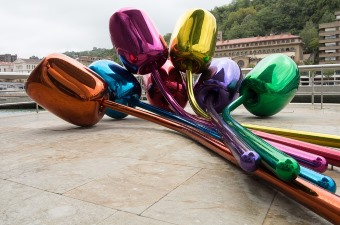 Image of a colorful art sculpture showing art museums as some of the best museums in NJ