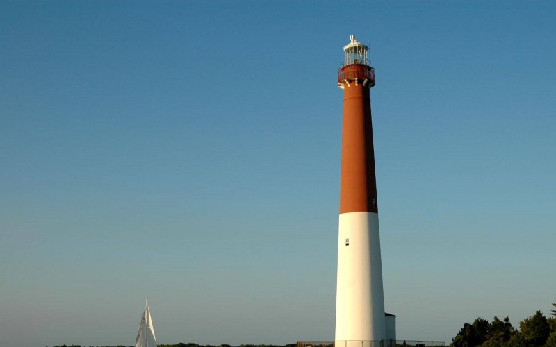The Barnegat Lightouse has great scenery and is a cheap place to go on a date in NJ!