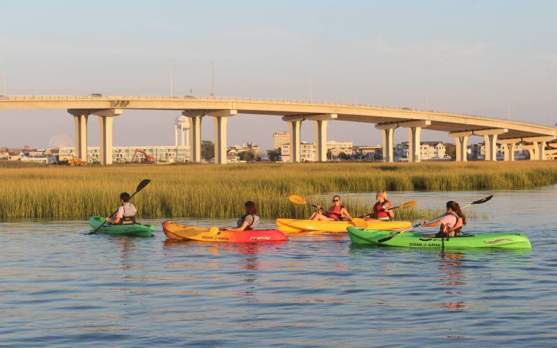 Baycats kayak rental companies in Cape May County NJ