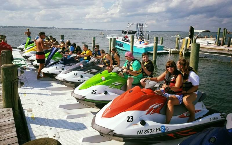 Bayview Marina places to go water skiing in Southern NJ