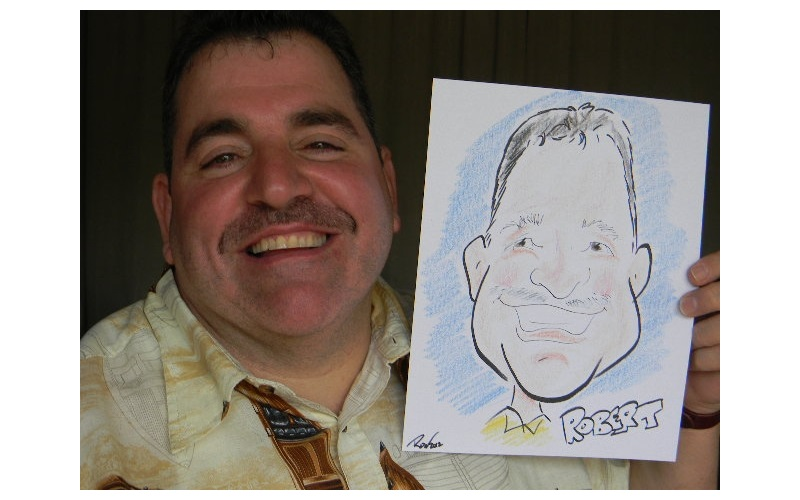 Professional caricature cartoon likenesses of your party guests
