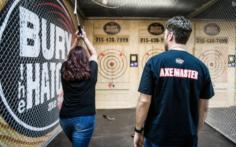 Bury The Hatchet Awesome Axe Throwing Arena in NJ