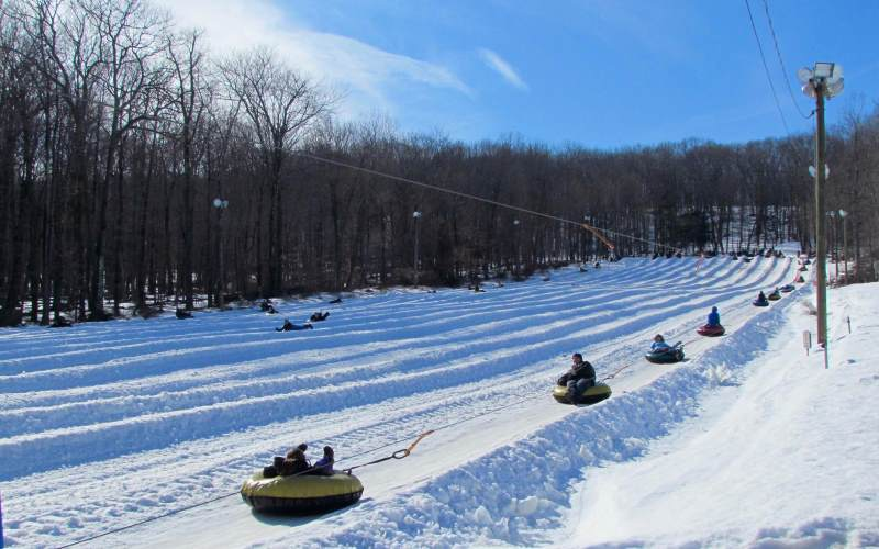 Campgaw Ski Area snow tubing in Bergen County NJ
