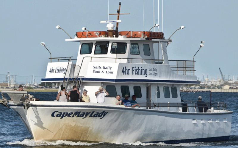 Cape May Lady fishing party boats in Cape May County New Jersey