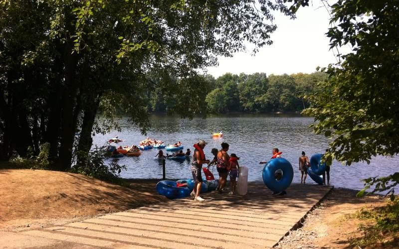 Delaware River Tubing kayak rentals in Hunterdon County NJ