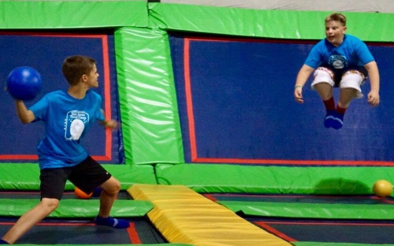 Rebounderz of Edison NJ offers extreme air dodgeball!