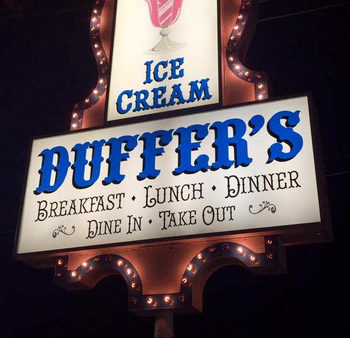 Duffer's Front Signpost