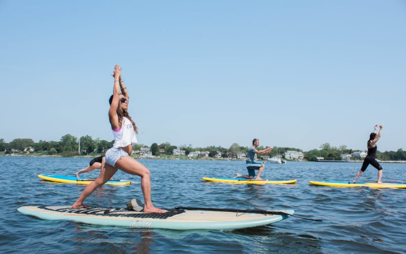 Flow Paddle Yoga paddle board rentals in Monmouth County NJ