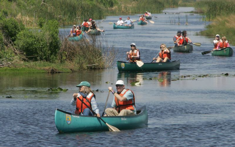 Forked River Outdoor Group canoeing in Ocean County NJ