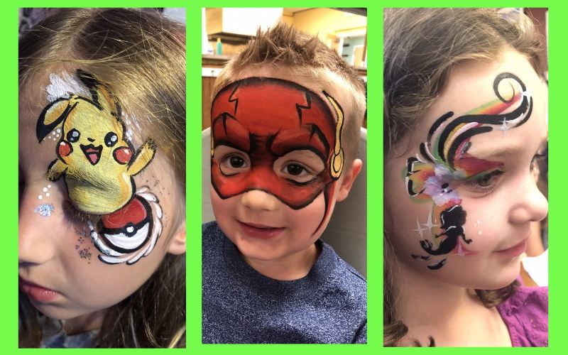 Image of Face Painting done by Freckles the Clown Southern NJ