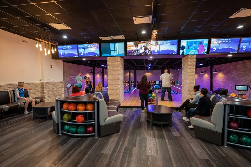 The Funplex East Hanover VIP Bowling Suite Great for Sweet 16's!
