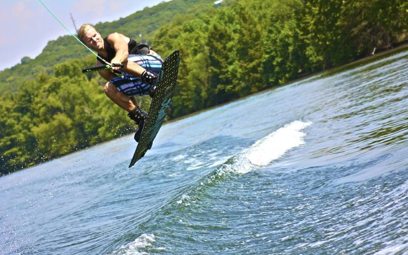 Island Surf and Sail wakeboarding in Ocean County New Jersey