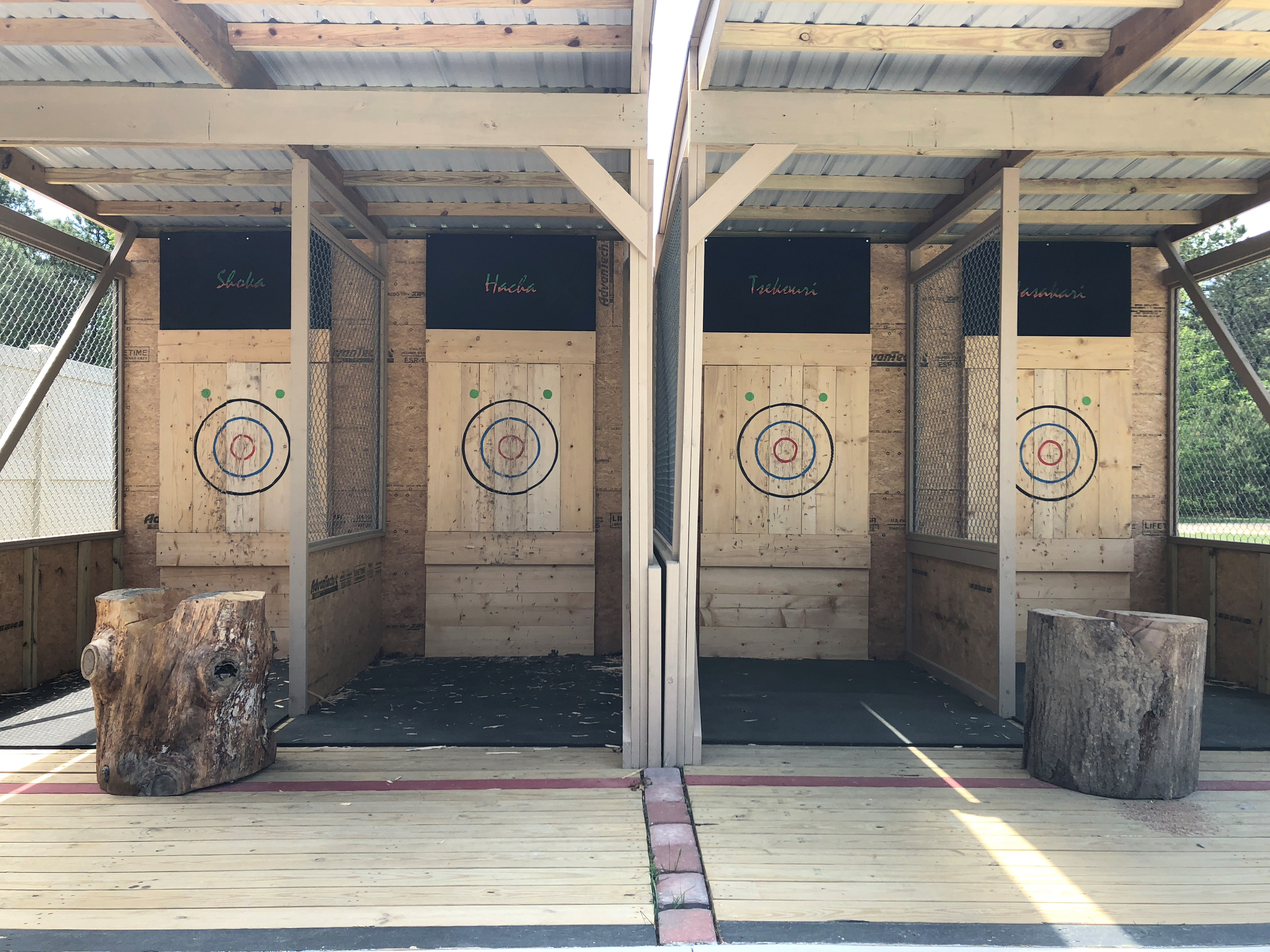 Image of targets at New Jersey Motorsports Park in Millville NJ