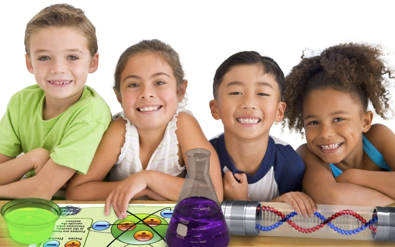 Image of Children at a Mad Science In Your Home Party in Northeast NJ