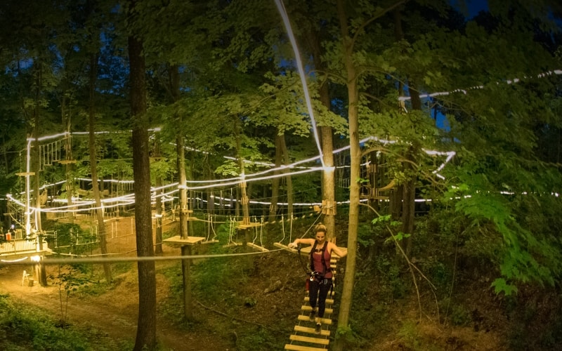 Mountain Creek Ropes Course in Vernon, NJ