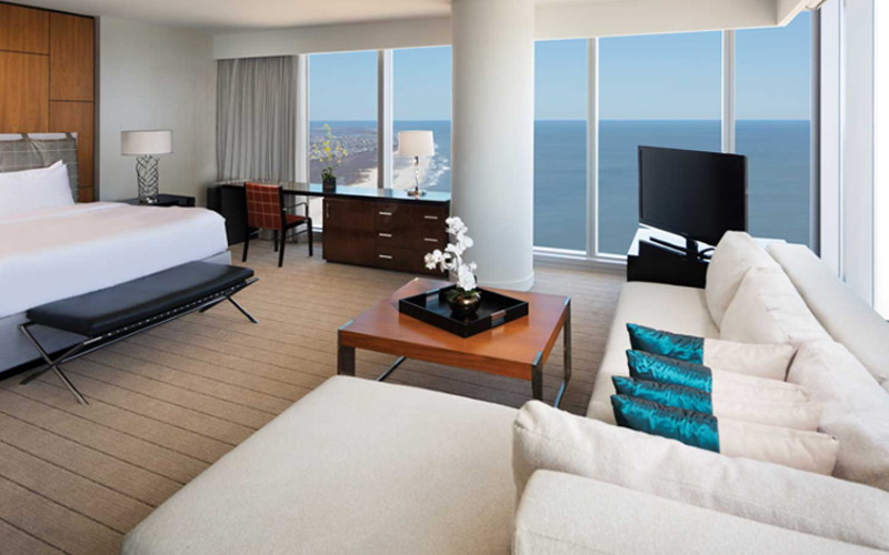 Photo of a hotel room at the Ocean Casino Resort Hotel in Atlantic City NJ