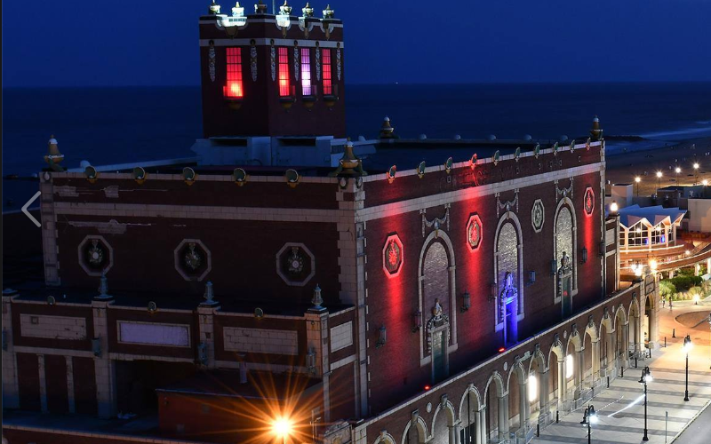 Image of Paramount Theatre and Convention Hall at Asbury Park NJ