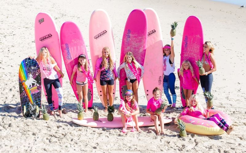 Pink Pineapple Surf School Surf Lessons For Kids In NJ